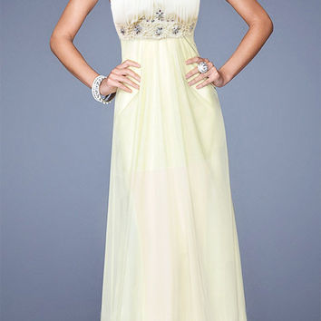 White Sweetheart Neckline Rhinestone Beaded High Waisted Maxi Dress