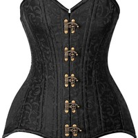 Daisy Corsets Top Drawer CURVY Brocade Double Steel Boned Corset