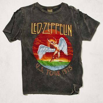 Led Zeppelin Washed Black Tee - Urban Outfitters