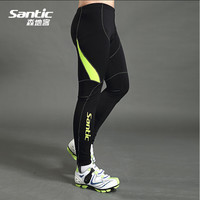 2017 Mens Winter Long Cycling Pants MTB Road Bike Outdoor Windproof Trousers Fleece Thermal Bicycle Pants Winter Santic MC04027L