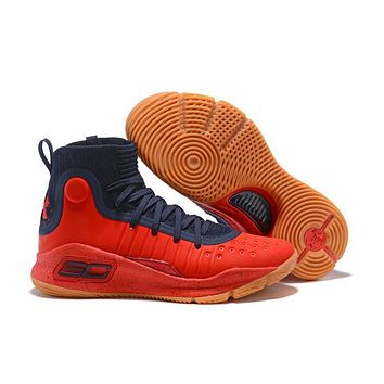 Under Armour Ua Curry 4 Navy/red Basketball Shoe | Best Deal Online