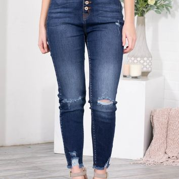 Dolly Cropped Frayed Skinny Denim
