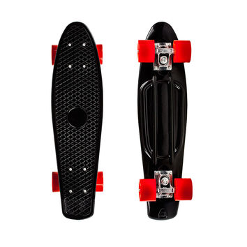 "22"" Complete Plastic Penny Style Street Classic Skateboard - Black"