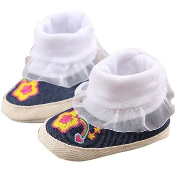 PEAP78W winter baby shoes Cotton Cloth kids boy girl first walker Denim Toddler Infant Girl Snow Boots Soft Sole prewalker Crib footwear