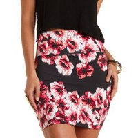 Floral Print Bodycon Mini Skirt by Charlotte Russe