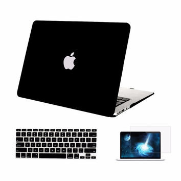 Mosiso 3 in 1 Rubberized Protective Laptop Hard Case Cover for Macbook Air 13 13.3 inch  A1369 A1466  laptop Plastic shell Case