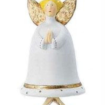 Krinkles Angel Ornament - Angel Is Dressed In White With Gold Accents