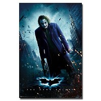 (22x34) The Dark Knight Movie (Joker Standing) Poster