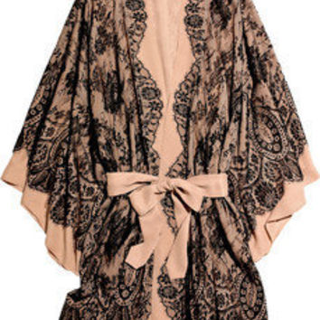 Jenny Packham | French lace and silk-chiffon robe | NET-A-PORTER.COM