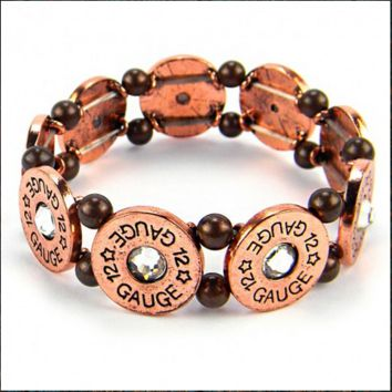 12 Gauge Bullet Stretch Bracelet