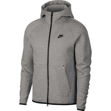 Nike Men's Sportswear Tech Fleece Full Zip Hoodie Heather Grey Black 928483-063