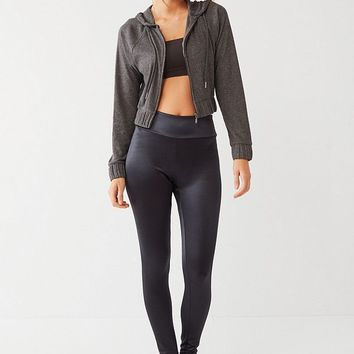 Out From Under Hepburn Cropped Zip-Up Hoodie Sweatshirt | Urban Outfitters