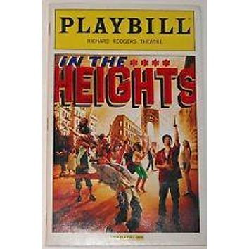 In The Heights National Tour Playbill Signed by Lin Manuel Miranda
