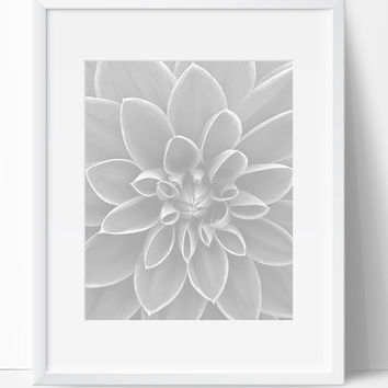 Printable Art, Instant Download, Flower Art, Flower Printable, Digital Print, Flower Print, Wall Art, 8x10, Flower, Black White, Art