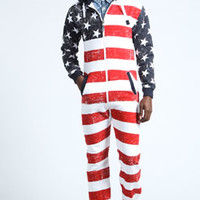 All Over American Flag Onesuit