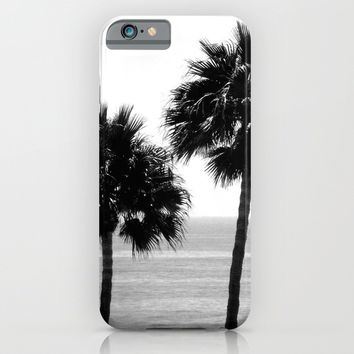 Palm Trees in Black & White iPhone & iPod Case by Derek Delacroix