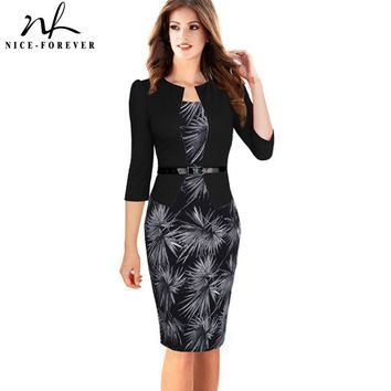 Women One-piece Faux Jacket  Elegant Work Dress