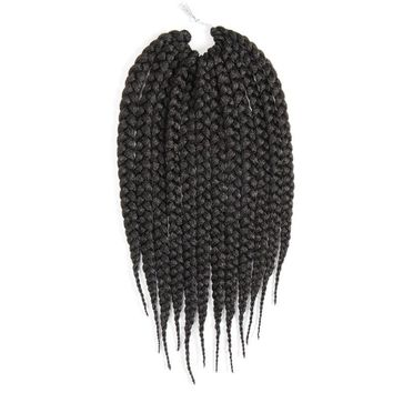 Feibin Crochet Twist Box Braid Hair Extension Synthetic Afro Braiding Hair Heat Resistant Fiber