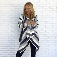 Big City Dreams Stripe Cardigan