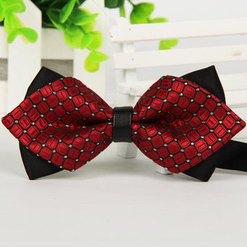 Mantieqingway Commercial Men's Bow Tie Skinny Brand 12cm*6.5 cm Bowties For Men Accessories Wedding Ties Gravata Cravat