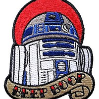 Star Wars R2-D2 Beep Boop Tattoo Art Embroidered Patch