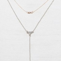 AEO Women's Rose Gold & Silver Necklace (Mixed Metal)