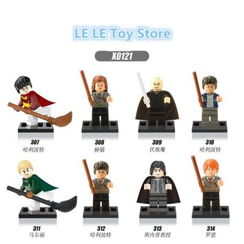 8PCS X0121 Harry Potter Half-Blood Prince Ron Lord Voldemort sets bricks building blocks Baby Kid Toys