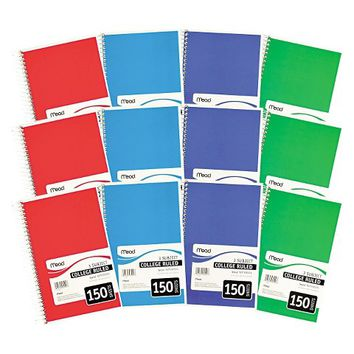 Mead® Spiral Bound Notebook - College Rule - 150 Sheets - 3 Per Pack