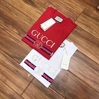 GUCCI Fashion Casual Print Round Neck Short Sleeve Pullover T-shirt Top