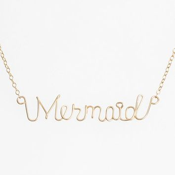 Women's ki-ele 'Mermaid' Script Pendant Necklace