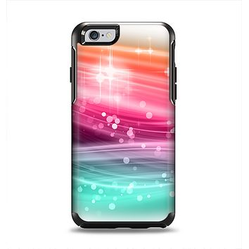 The Vibrant Multicolored Abstract Swirls Apple iPhone 6 Otterbox Symmetry Case Skin Set