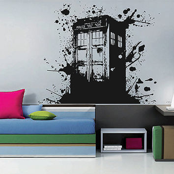 kсik2255 Wall Decal Sticker Time Machine Spaceship tardis doctor who living children's bedroom