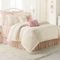 LC Lauren Conrad Lily 3-pc. Reversible Comforter Set - King/Cal. King (White)
