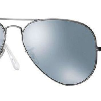 UCANUJ3V Ray Ban Sunglasses Flash Aviator,58mm