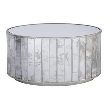 Worlds Away Venice Oval Office Coffee Table