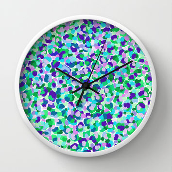 CRAZY LIKE A DREAM Wall Clock by Isabella Salamone