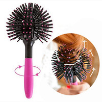 1Pcs 3d Round Hair Brush Detangling Hair Styling Curling Combs Makeup Tools Salon Hairdresser Comb Hairbrush Beauty Essentials