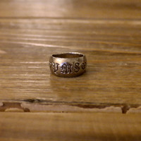 Pure 925 Sterling Silver Initial Letter Ring (Anthropologie)
