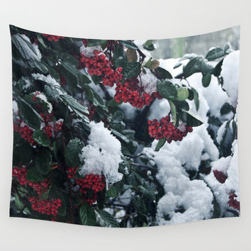 Winter and snow Wall Tapestry by VanessaGF | Society6