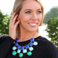 Bubbly Blue Statement Necklace