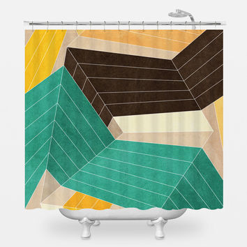 Lines Inside Shower Curtain