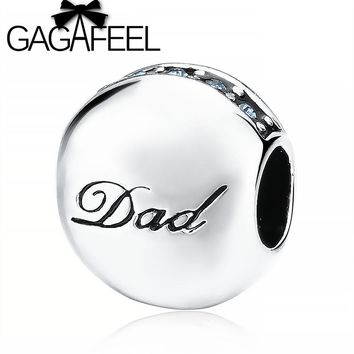 Dad Letters Bead Fit Pandora Bracelet Necklace