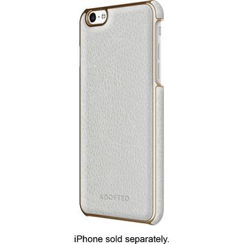 ADOPTED - Leather Wrap Case for Apple® iPhone® 6 Plus - White/Gold