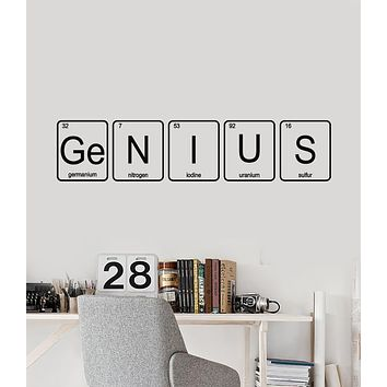 Vinyl Wall Decal Chemistry School Genius Chemical Lab Science Class Stickers Mural (g1006)