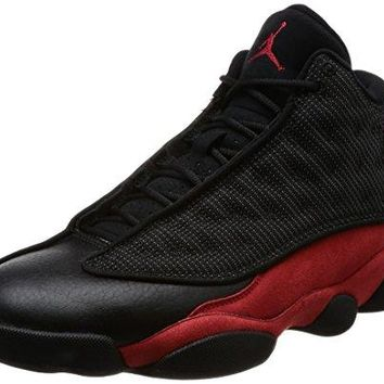 Jordan Men's Air 13 Retro, BLACK/TRUE RED-WHITE  jordans air shoe