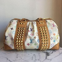 Louis Vuitton White/multi Top Handle Handbags