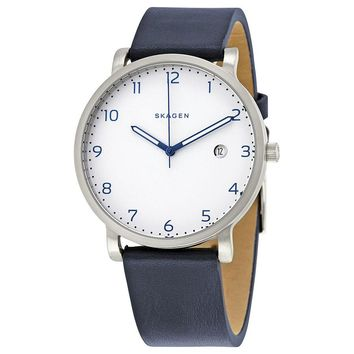 Skagen Hagen White Dial Mens Casual Watch SKW6335
