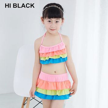 2018 Kids Girls Swimwear Bathing Sets Swimming Suit Splice Swimsuit Children Stylish child  Set New Children's swimwear