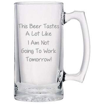 This Beer Tastes Like.. Beer Mug, Beer Gifts, Gift Idea For Beer Lovers, Dad Gifts, Man Gifts, Fathers Day Gift   Beer Mug   Beer Stein