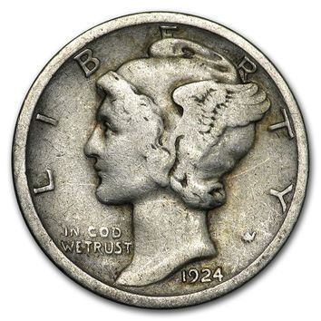 1924-S Mercury Dime Good/Fine